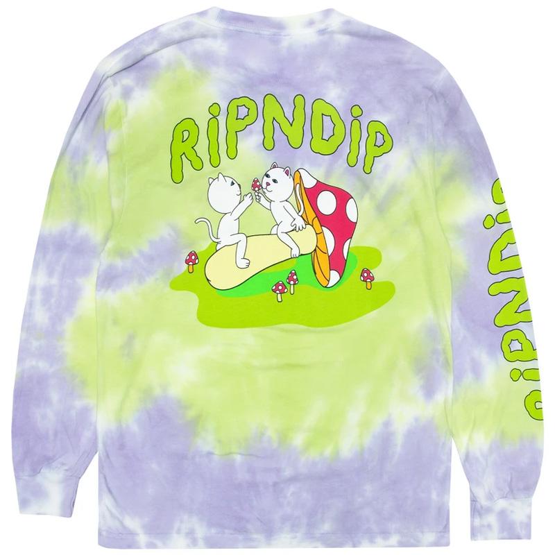 RIPNDIP Sharing Is Caring Longsleeve T-Shirt Neon/Lavender Dye