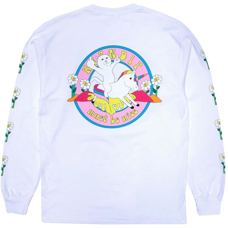 RIPNDIP Unicorn Rider Longsleeve T-Shirt White