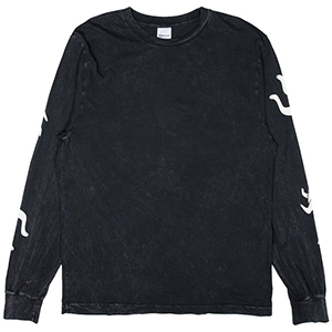 RIPNDIP Zipperface Longsleeve T-Shirt Black Mineral Wash