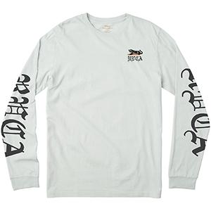 RVCA Double Skull Longsleeve T-Shirt Ice