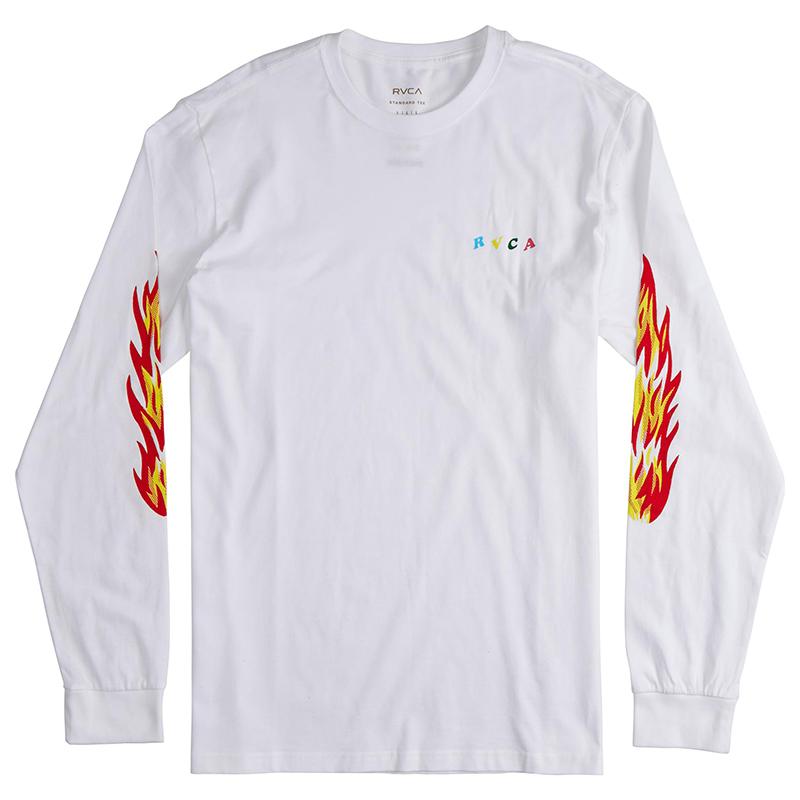RVCA Firing Pins Longsleeve T-Shirt White
