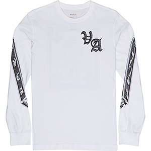 RVCA Join Or Die Longsleeve T-Shirt White