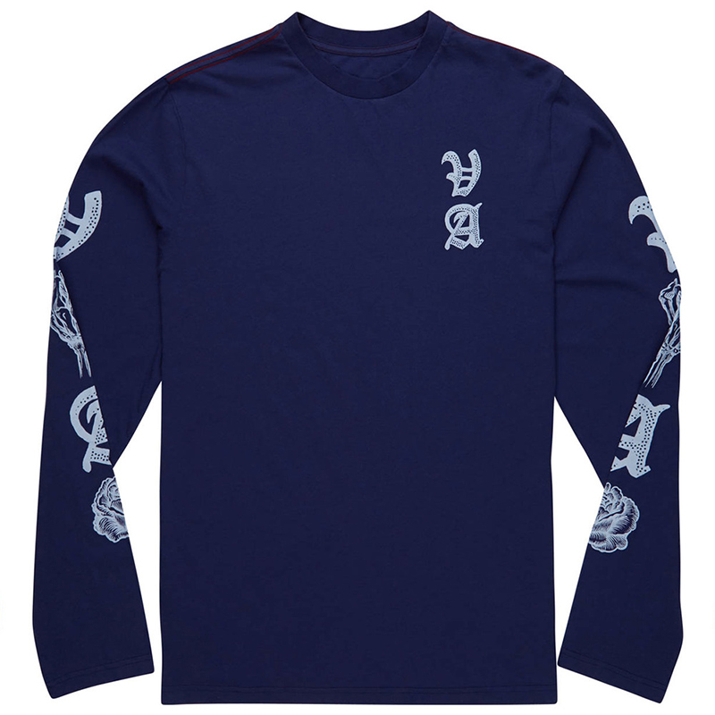 RVCA Rose Push Longsleeve T-Shirt Blue Depths