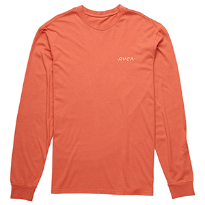 RVCA Womens Day Longsleeve T-Shirt Red Clay