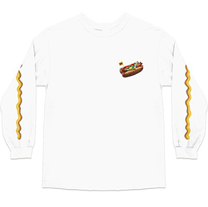 Skate Mental Chicago Dog 2.0 Longsleeve T-shirt White