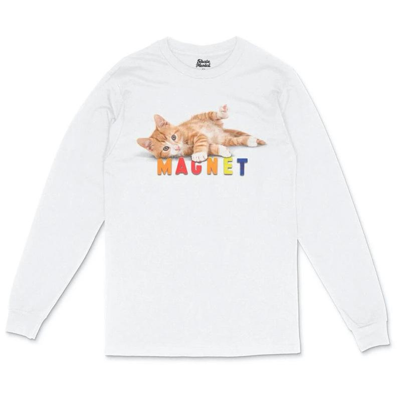 Skate Mental Pussy Magnet Longsleeve T-Shirt White