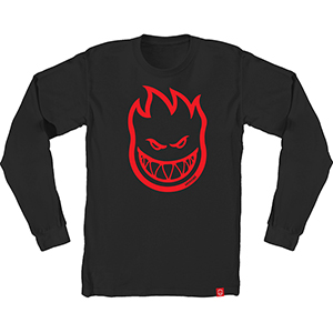 Spitfire Bighead Longsleeve T-Shirt Black/Red