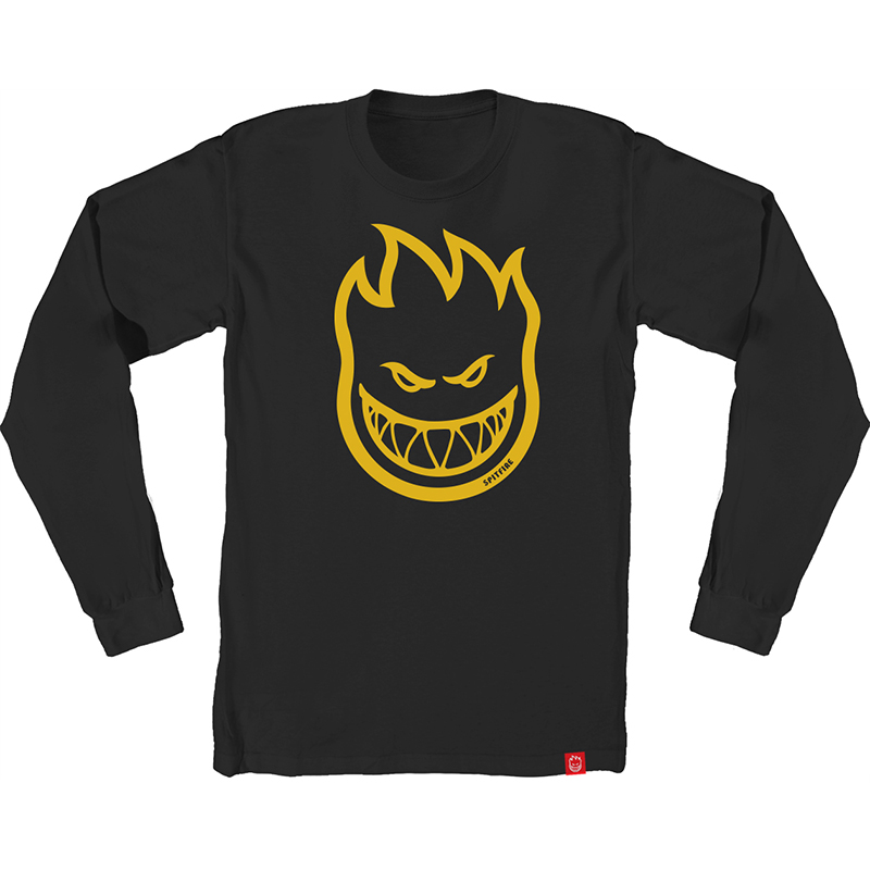Spitfire Bighead Longsleeve T-Shirt Black/Yellow/Gold