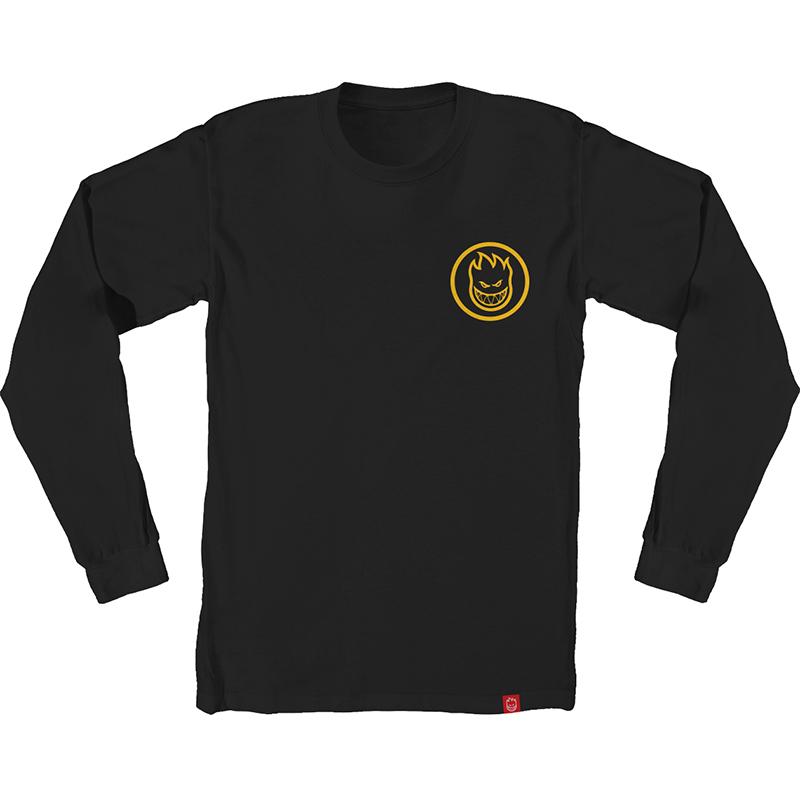 Spitfire Classic Swirl Longsleeve T-Shirt Black/Yellow/Gold