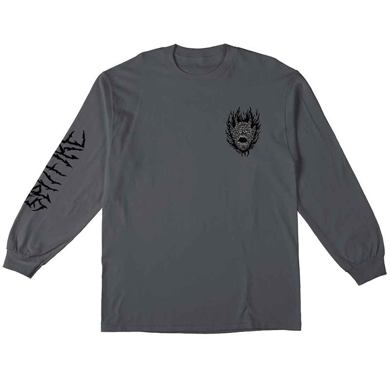 Spitfire Fiend Longsleeve T-Shirt Charcoal