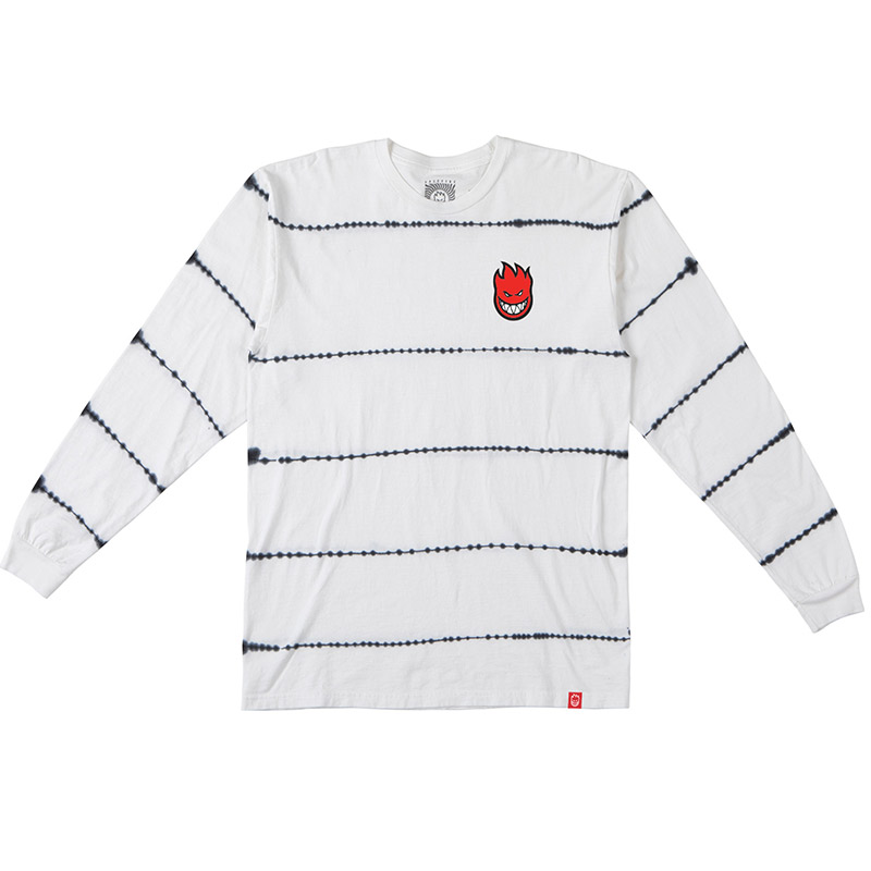 Spitfire Lil Bighead Fill Longsleeve T-Shirt White/Black Stripe