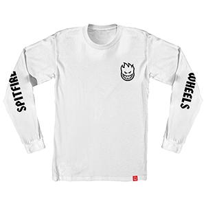 Spitfire Lil Bighead Hombre Longsleeve T-Shirt White/Black