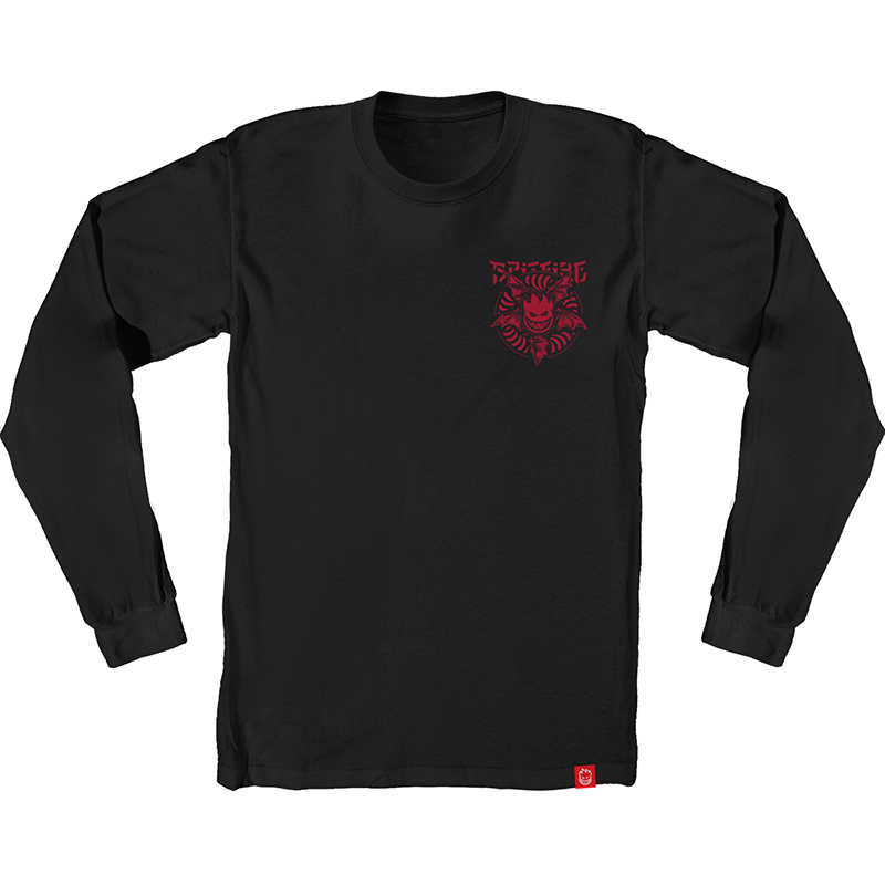 Spitfire Nocturnus Longsleeve T-Shirt Black/Red