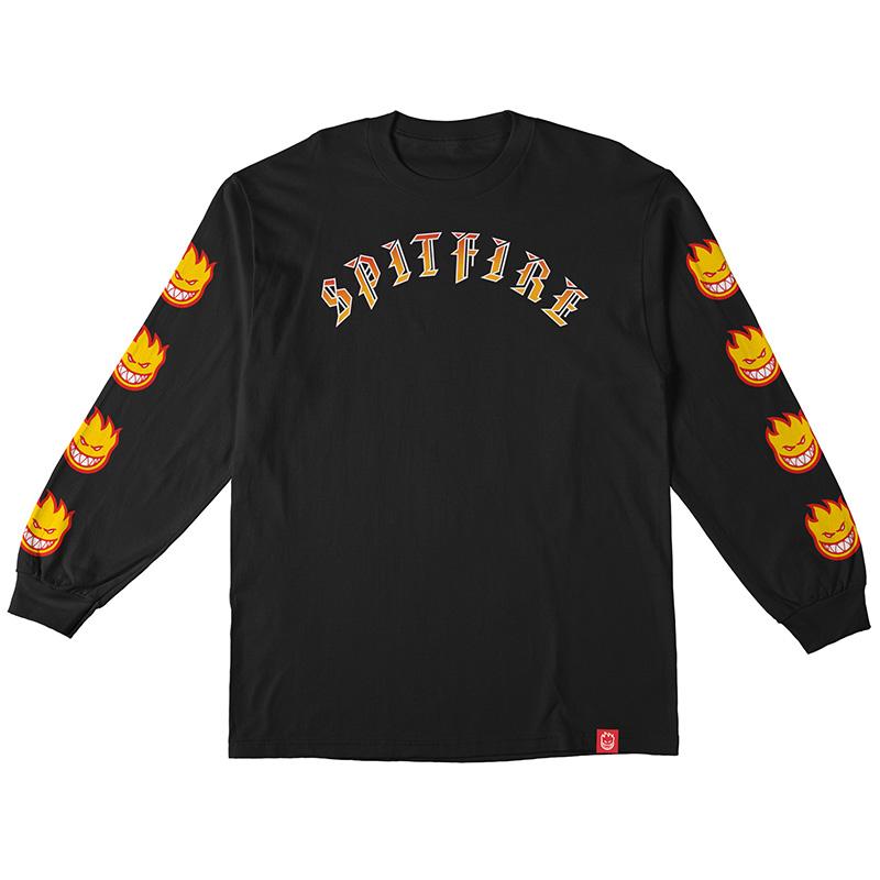 Spitfire Old E Bighead Fill Sleeve Longsleeve T-Shirt Premium Print Black