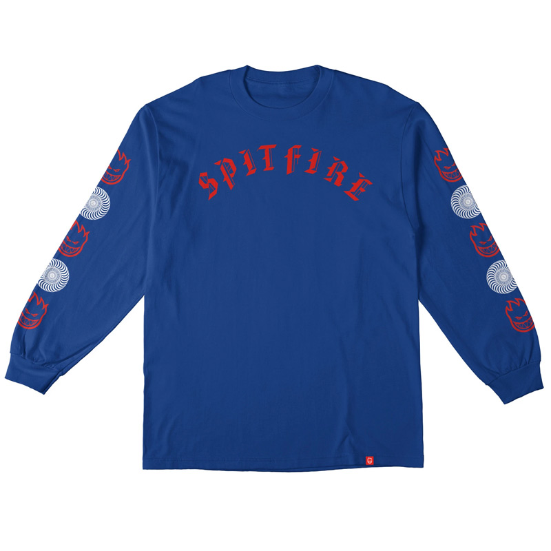 Spitfire Old E Combo Sleeve Longsleeve T-Shirt Royal
