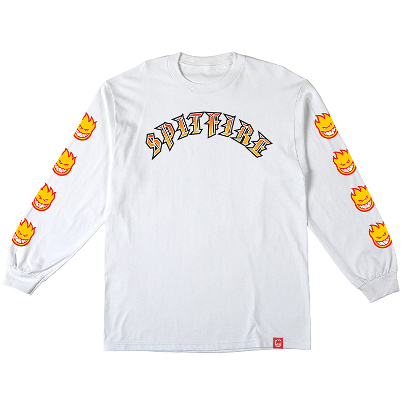 Spitfire Olde E Bighead Fill Sleeve Longsleeve T-Shirt White