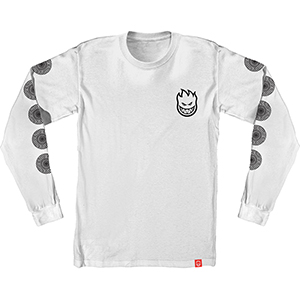 Spitfire Stock Bighead Swirl Longsleeve T-Shirt White/Black