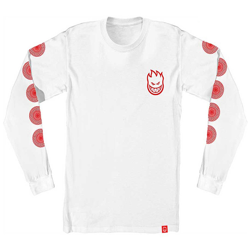 Spitfire Kids Stock Bighead Swirl Longsleeve T-Shirt White/Red
