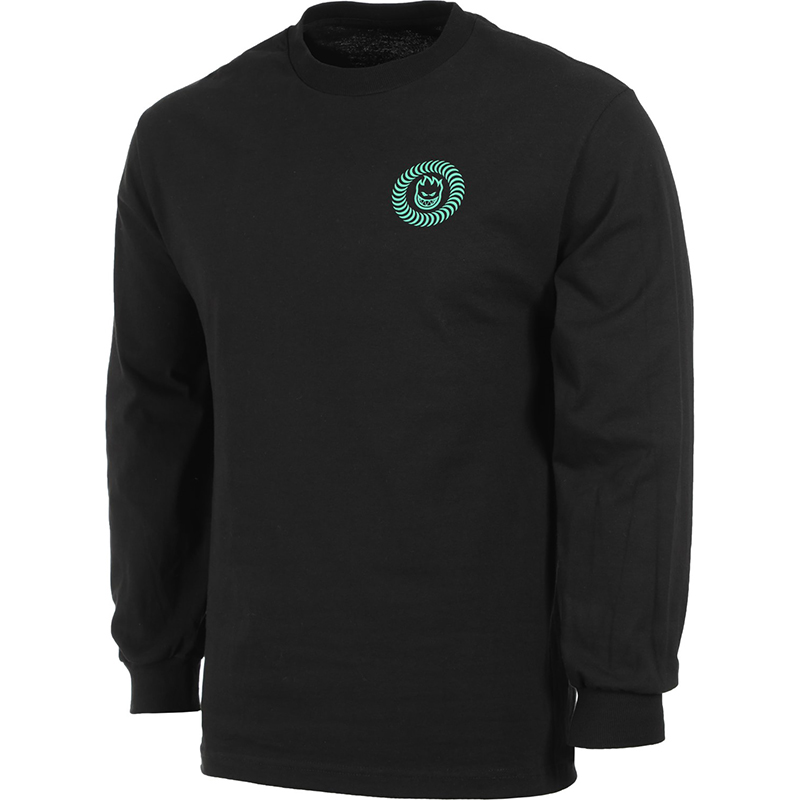 Spitfire Swirl Box Longsleeve T-Shirt Black/Glow