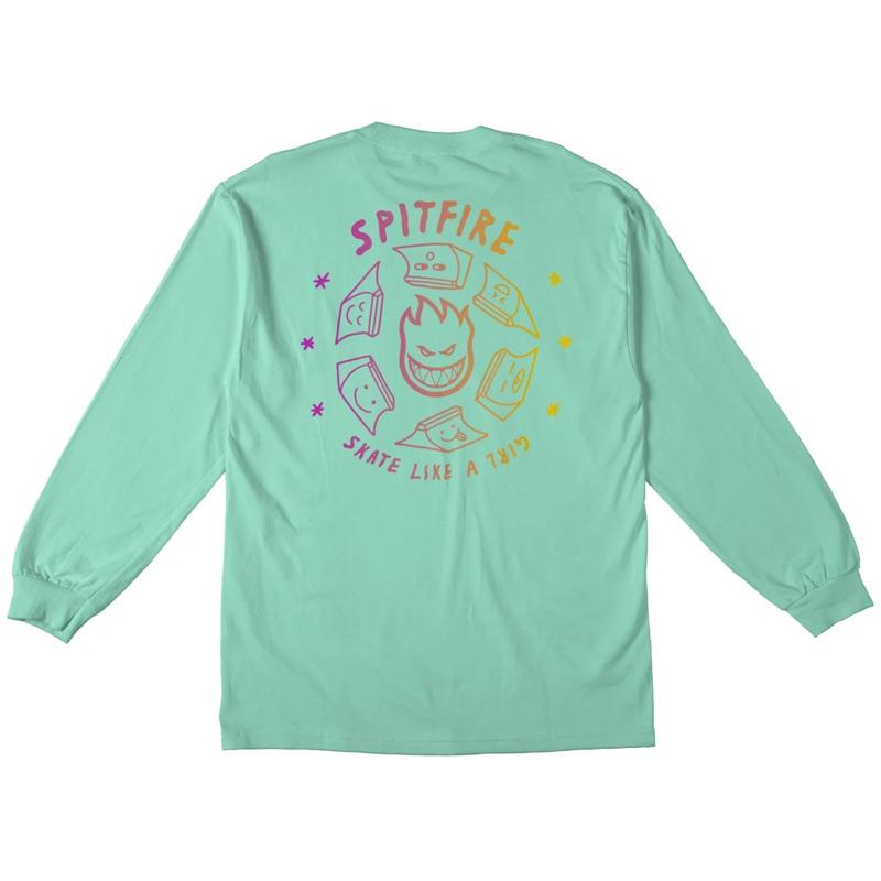 Spitfire x Skate Like A Girl Fade Longsleeve T-Shirt Celadon