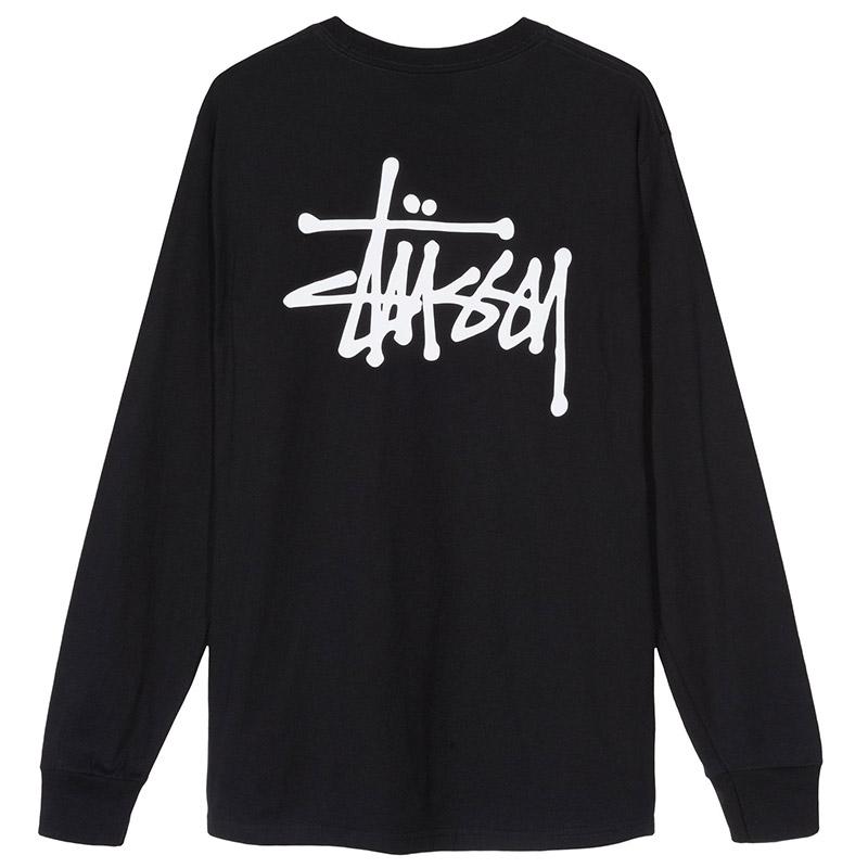 Stussy Basic Longsleeve T-Shirt Black