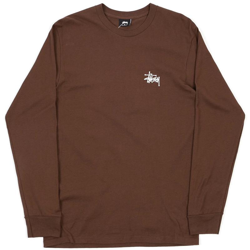 Stussy Basic Longsleeve T-Shirt Chocolate