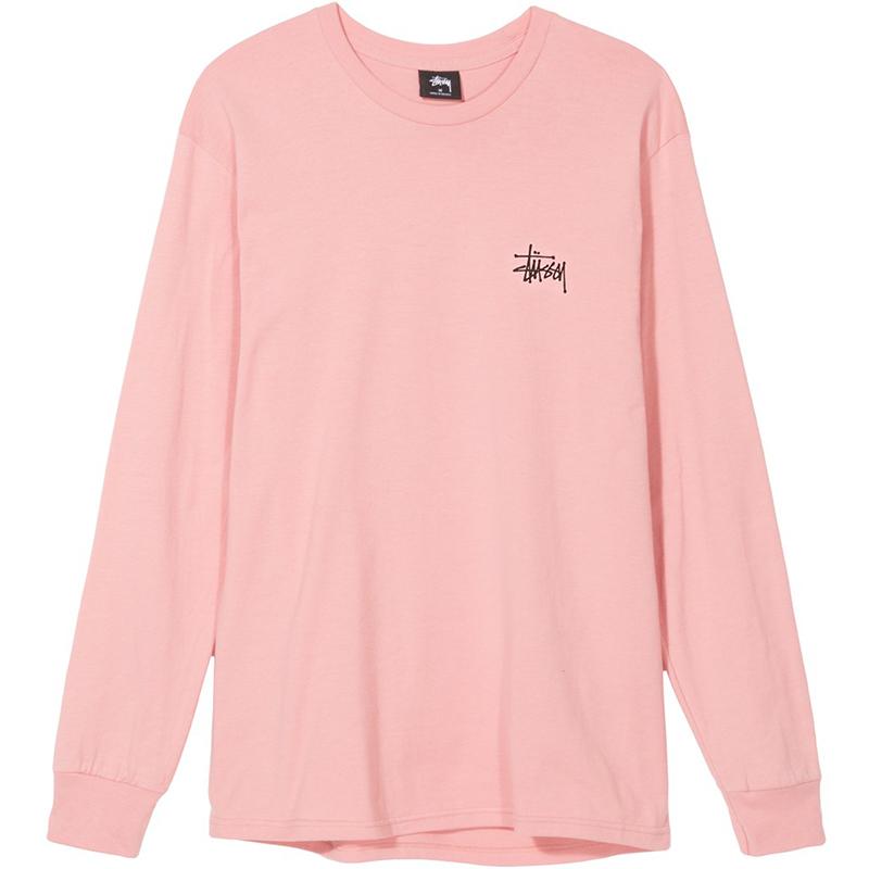 Stussy Basic Longsleeve T-Shirt Dusty Rose