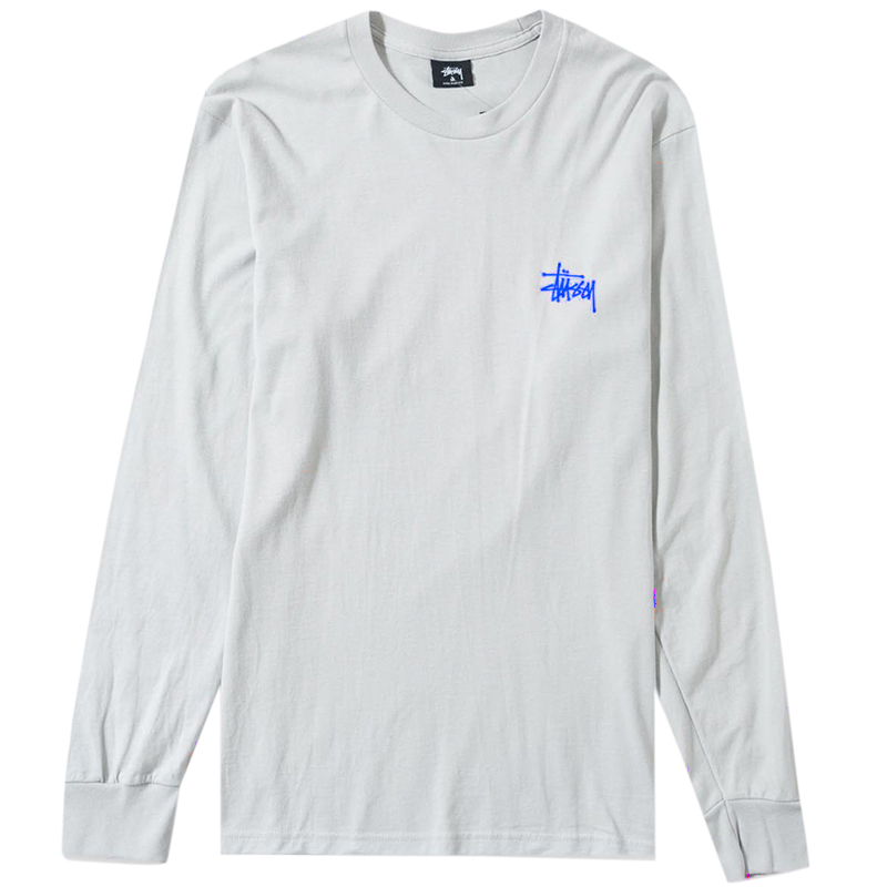 Stussy Basic Longsleeve T-Shirt Fog