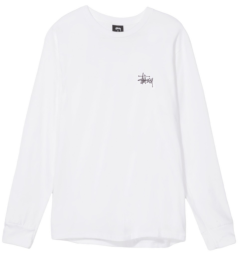 Stussy Basic Longsleeve T-Shirt White