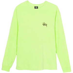 Stussy Basic Stussy Pig. Dyed Longsleeve T-Shirt Green