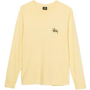 Stussy Basic Stussy Pig. Dyed Longsleeve T-Shirt Yellow