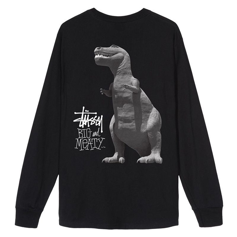 Stussy Big & Meaty Longsleeve T-Shirt Black