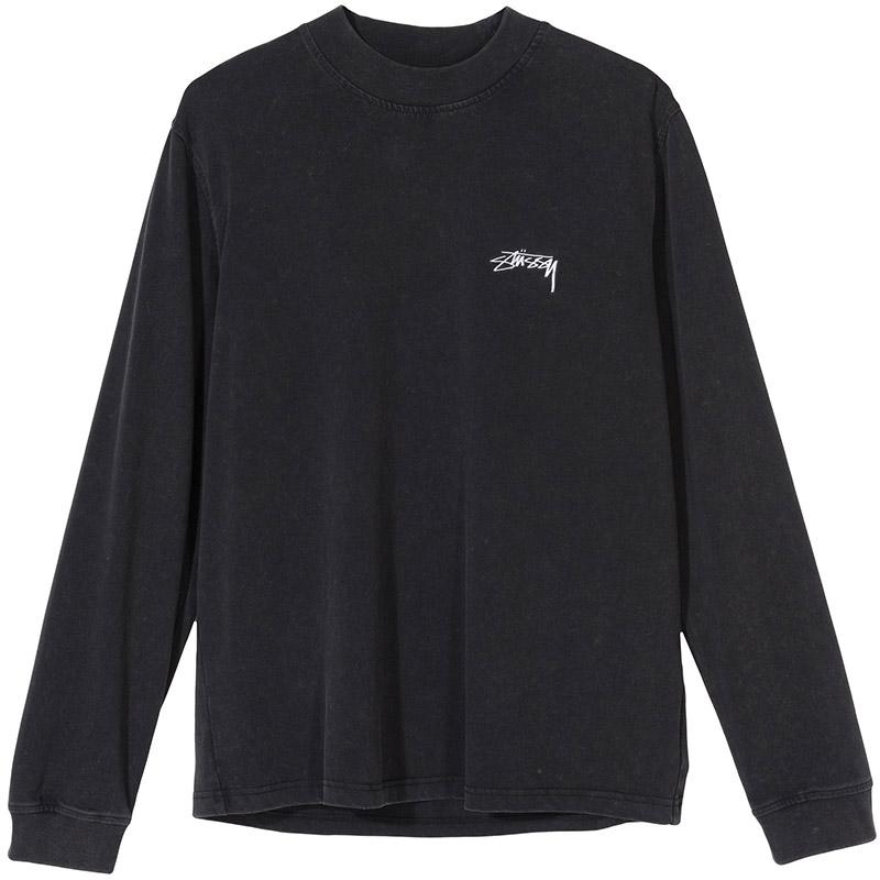 Stussy Big Stock Longsleeve Mock Shirt Black
