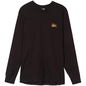 Stussy Fireball Longsleeve T-Shirt Black