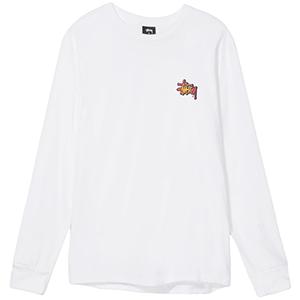 Stussy Fireball Longsleeve T-Shirt White