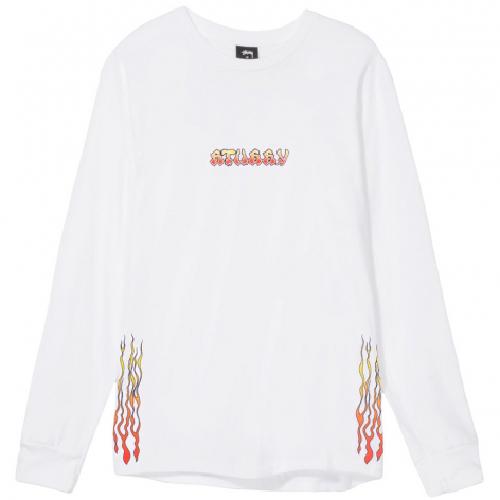 Stussy High Power Sound Longsleeve T-Shirt White