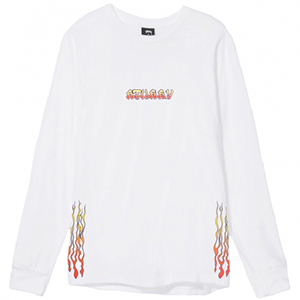 Stussy High Power Sound Longsleeve T-Shirt White