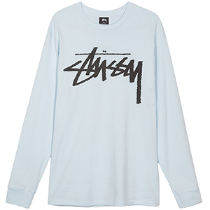 Stussy Old Stock Longsleeve T-Shirt Light Blue