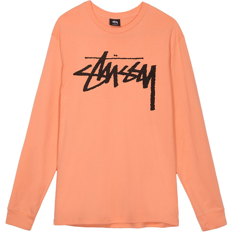 Stussy Old Stock Longsleeve T-Shirt Salmon