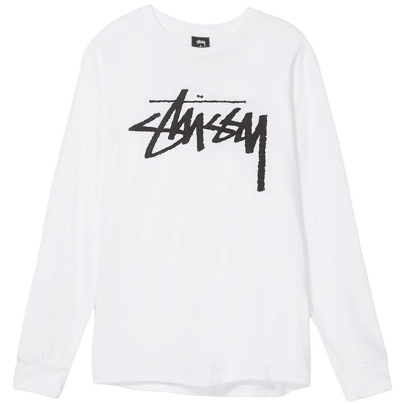 Stussy Old Stock Longsleeve T-Shirt White