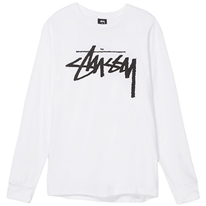 Stussy Old Stock Longsleeve T-Shirt White