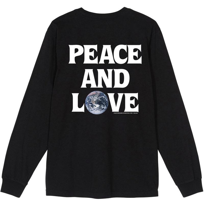 Stussy Peace&Love Longsleeve T-Shirt Black