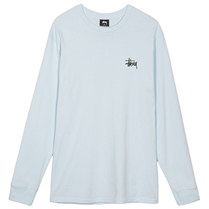Stussy Pin Up Longsleeve T-Shirt Light Blue