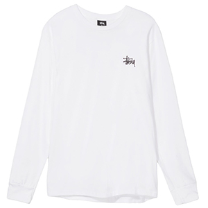 Stussy Pin Up Longsleeve T-Shirt White