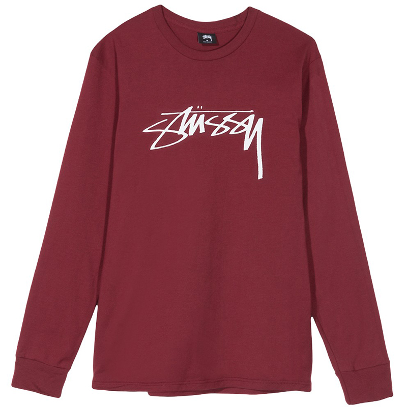 Stussy Smooth Stock Longsleeve T-shirt Wine