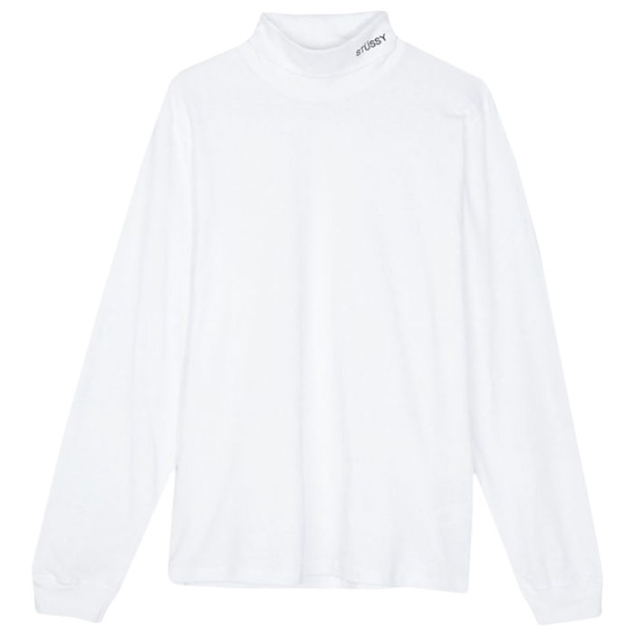 Stussy Turtleneck Longsleeve T-Shirt White