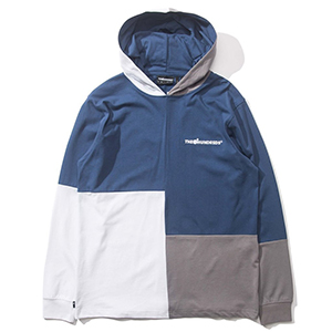 The Hundreds Abstract Hooded Longsleeve T-Shirt Blue