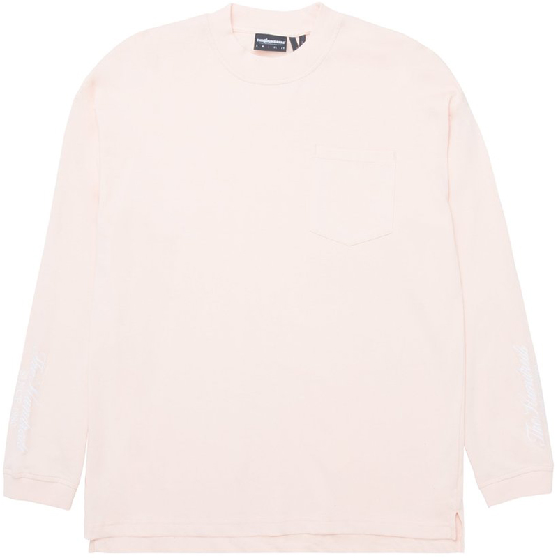 The Hundreds Mason Longsleeve T-Shirt Pale Pink