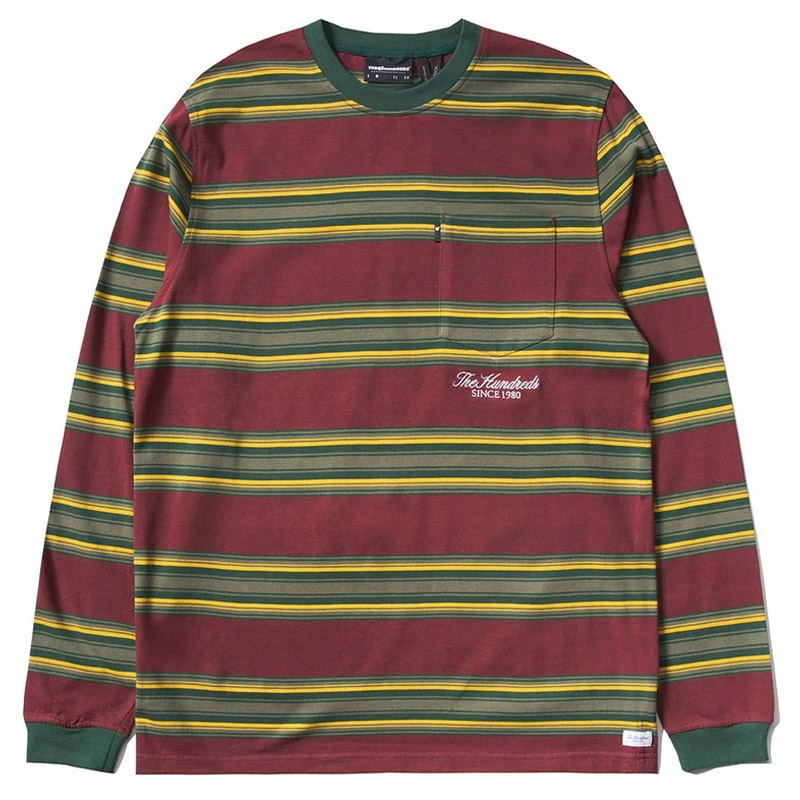 The Hundreds Norton Longsleeve T-Shirt Burgundy