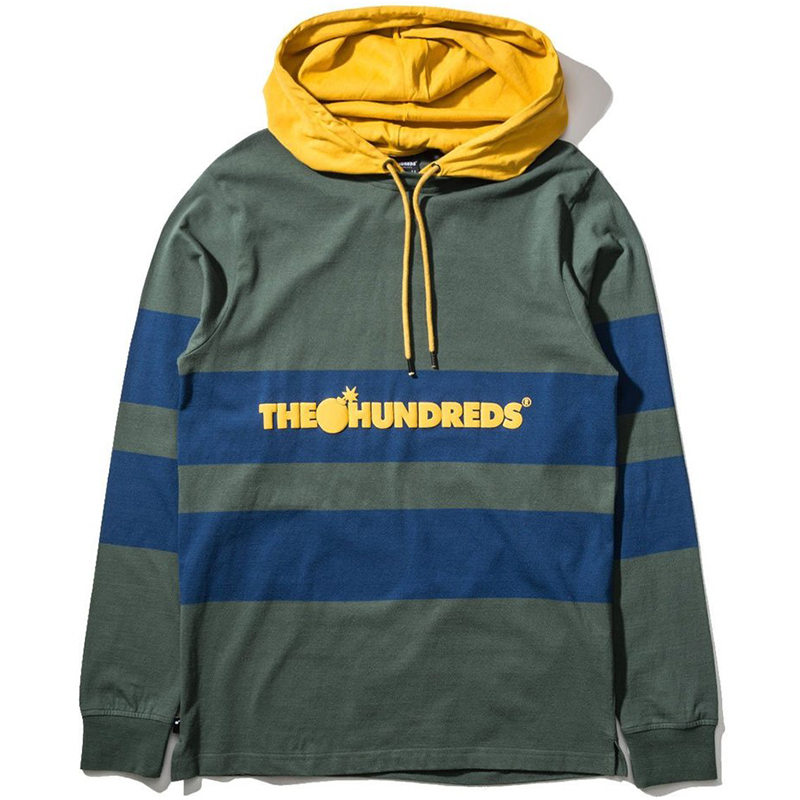 The Hundreds Ridge Hooded Longsleeve T-Shirt Olive